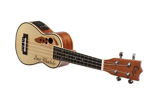 XIE@21 pulgadas caja eléctrica abeto Sapele ukelele pequeña guitarra de madera de color: Amazon.es: Instrumentos musicales