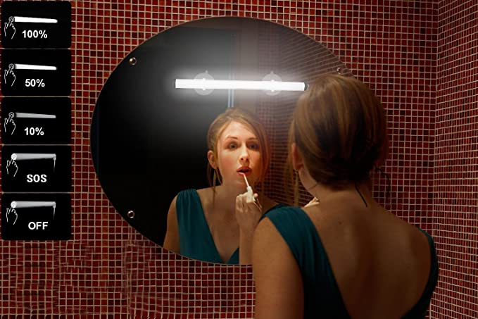 Rechargeable Mirror Makeup Light with Brightness Adjust Function MYPLUS Portable Vanity Lights Simulated Daylight for Perfect Makeup and Best Gift