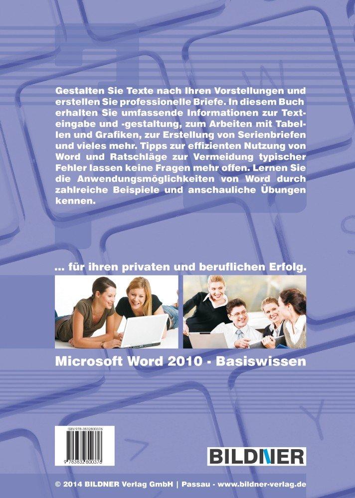 Microsoft Word 2010 Basiswissen Das Lernbuch Für Word Einsteiger