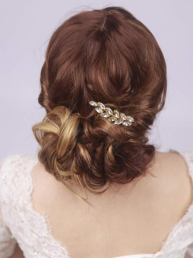 kercisbeauty boda decorativo Peines de novia peine de pelo diadema boda  pelo pieza Vintage peine de pelo flores pelo juego de pelo accesorios para  el pelo ... 4ed86da1b352