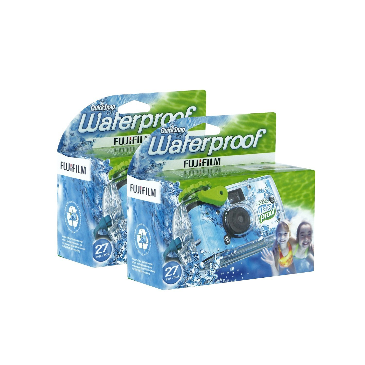 Fujifilm Disposable QuickSnap Waterproof Pool Underwater 35mm Camera, Pack of 2 4331909975