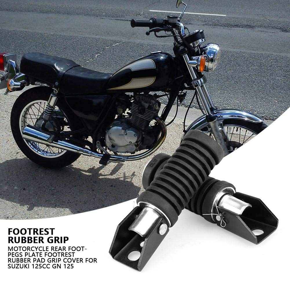 Motorcycle Rear Footpegs Rubber Nonslip Footpegs Plate Footrest Rubber Pad Grip Cover for 125cc GN 125