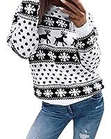 Keepfit Christmas Floral Sweatshirt, Women Reindeer Snowflake Blouse Top Sweater