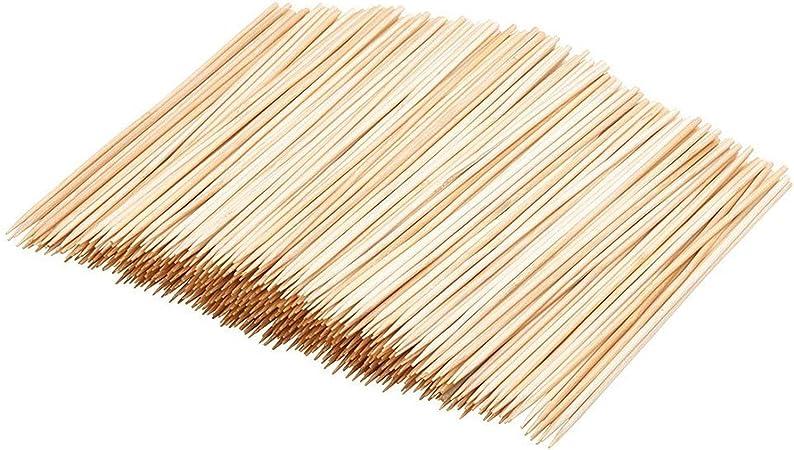 "4/""-6/""-8/""-10/""-12/"" Bamboo Wood Skewers 100 pk Barbecue Wooden Shish Kabob Sticks"