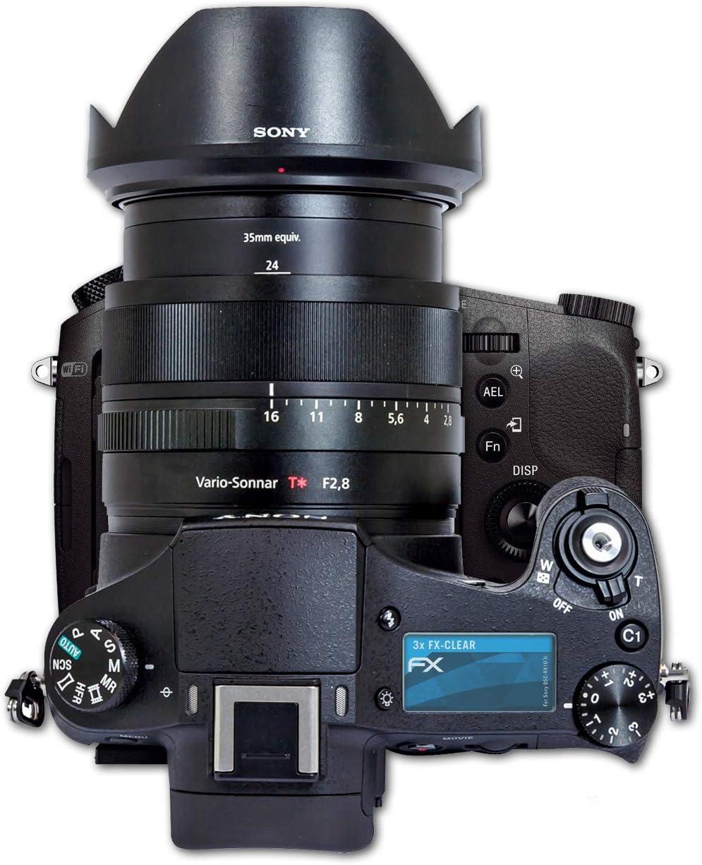 3X atFoliX Schutzfolie kompatibel mit Sony Alpha 7 III Folie ...