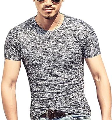 2018 Hombres Tops 2018 Moda Verano Camiseta Hombres Ropa Hombres Algodón Manga Corta Camiseta Camisetas: Amazon.es: Ropa y accesorios