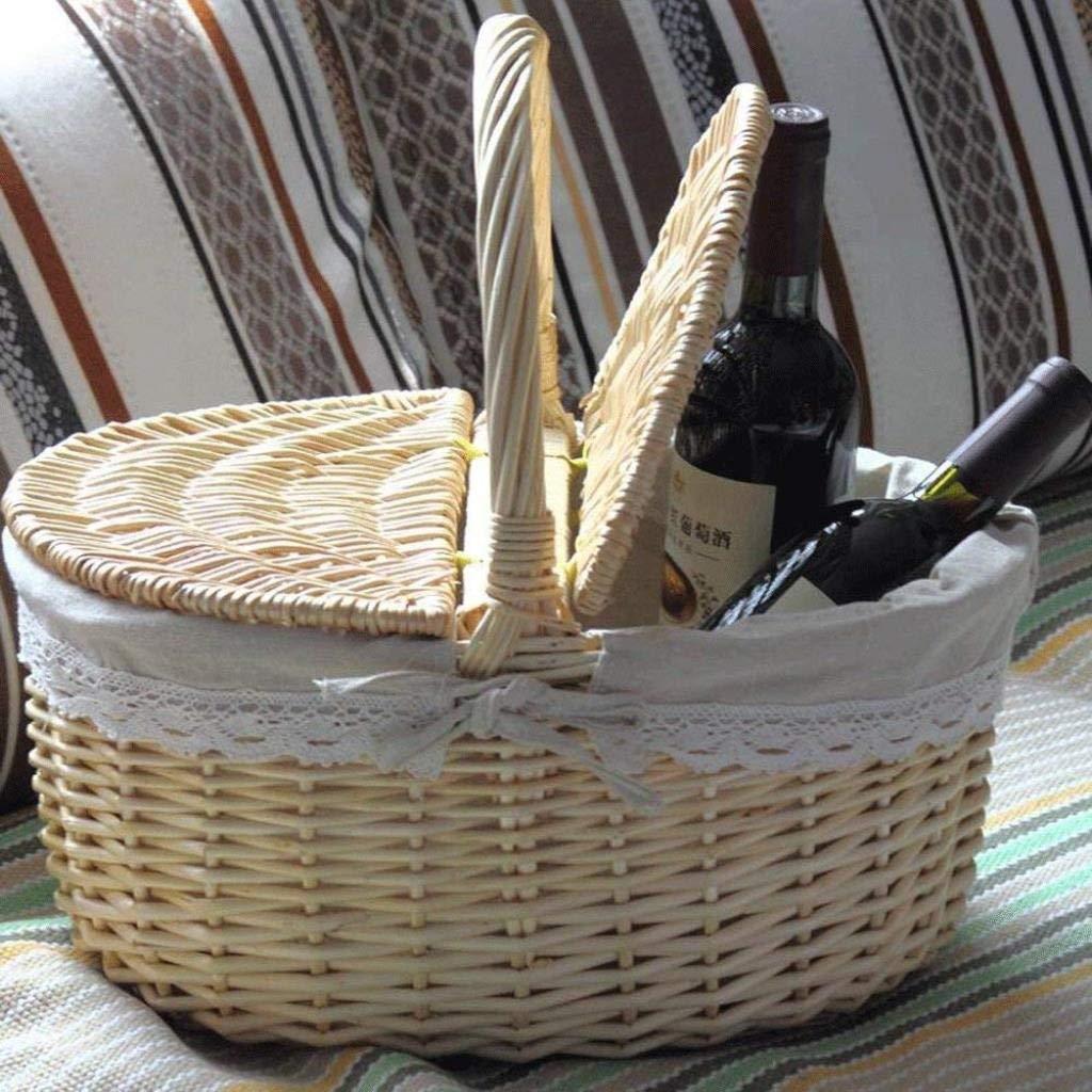 Fruit Basket Rattan Storage Basket Jinliu Home Gift Basket Bamboo Basket Portable Basket Garden Picnic Basket Basket