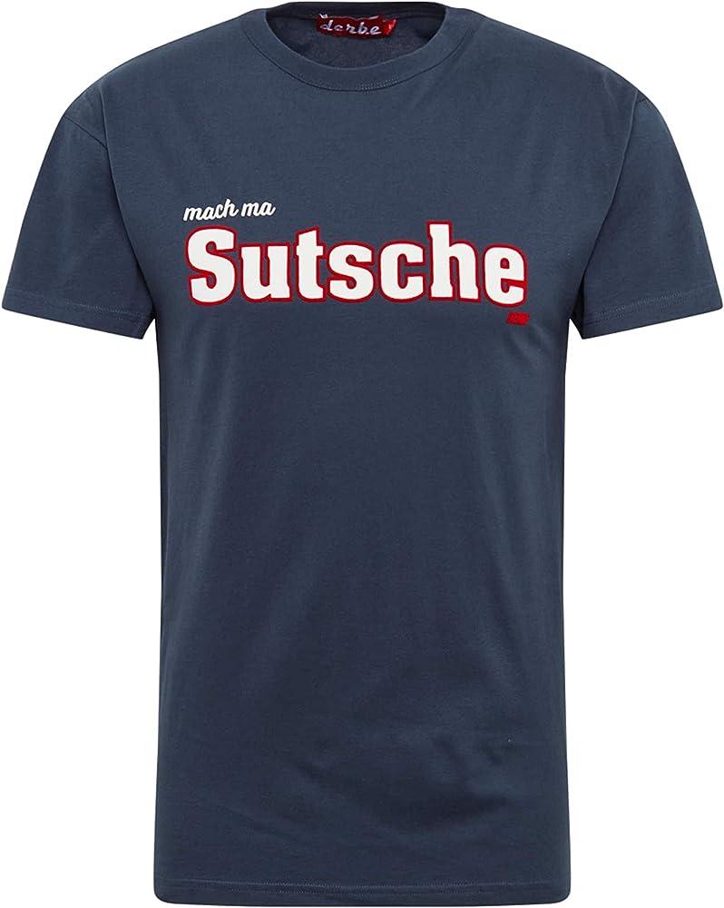 Derbe Hamburg - Camiseta para Hombre (algodón orgánico), diseño con Texto UTSCHE Boys Azul Marino XL: Amazon.es: Ropa y accesorios
