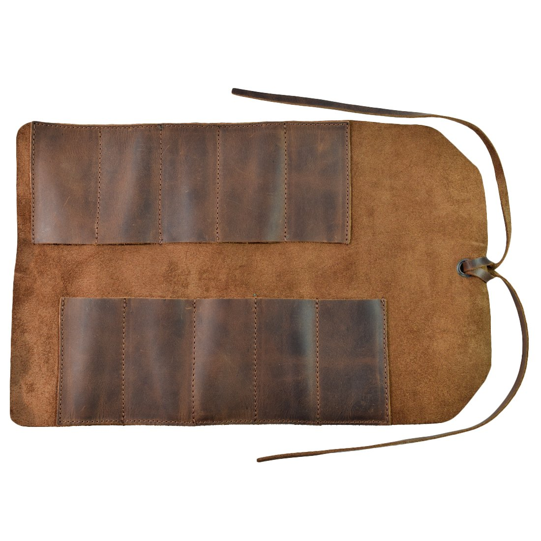 Rustic Leather Small Tool Roll Handmade by Hide & Drink :: Bourbon Brown by Hide & Drink (Image #3)