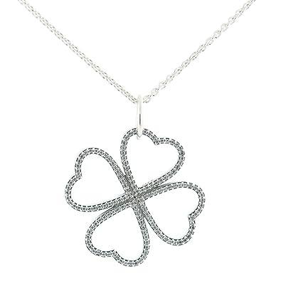 f359182cc Pandora Women's Sterling Silver Petals of Love CZ Pendant Necklace -  390381CZ-90