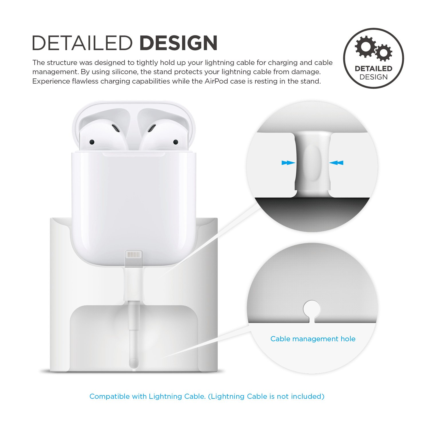 Airpod Charger Wire Center Led Rocker Switch Wiring Diagram Http Wwwturretboardscom Guitar Amazon Com Elago Airpods Stand White Charging Station Long Rh Wireless Case