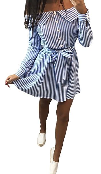 Blusa Kleid Mujer Cortos Casual Es Fashion Flecos Mini Sencillos Especial Vestido Manga Larga Sin Tirantes