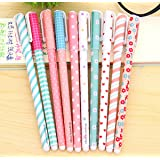 Rashen (TM) 10 fantastiche penne gel colorate/a sfera/roller, per lavori creativi Style 1