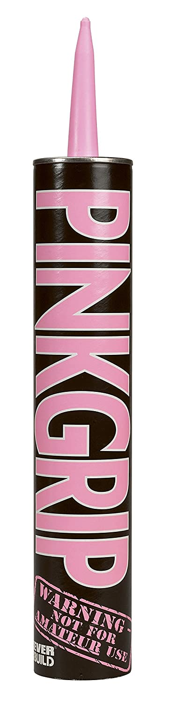 2XPinkgrip - Revolutionary Direct Bond Adhesive - 350ml- Pink Everbuild