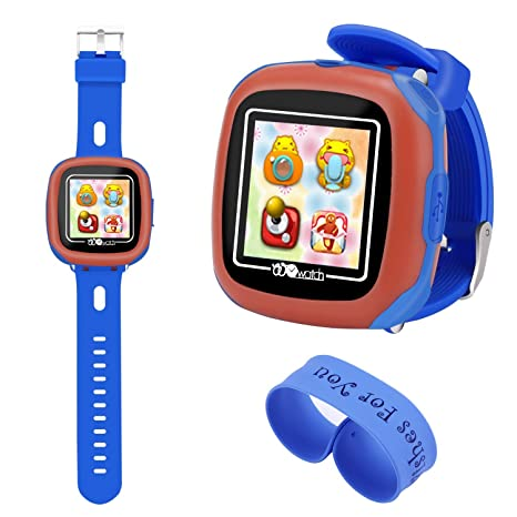 Aolee Kids Smart Watch Games Timer Alarm Newclock Camera Pedometer Touchscreen Bonus Wristbandblue