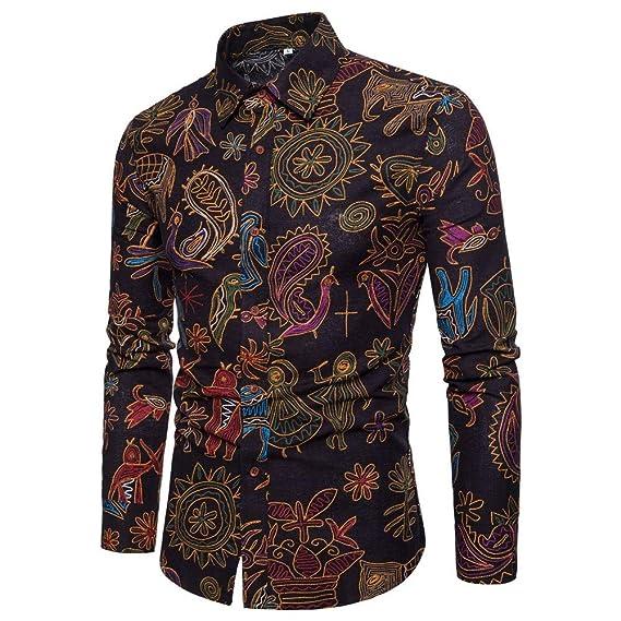 Weiyidq Chemises Chemise A Manches Longues Pour Homme En Lin Style