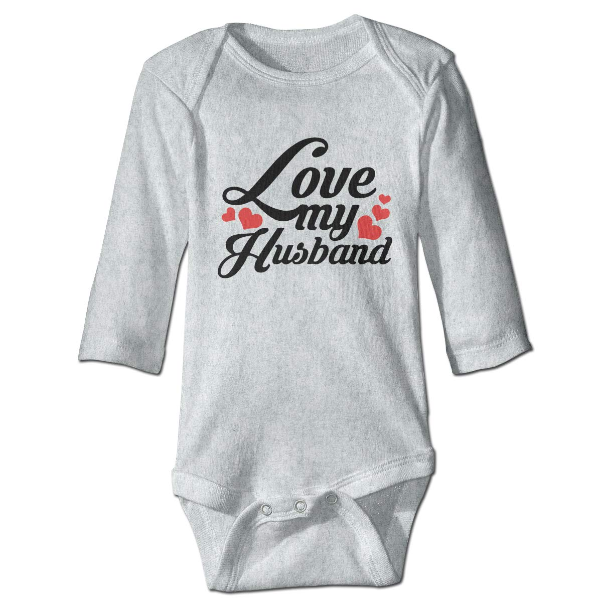 Infant Babys Long Sleeve Romper Bodysuit I Love My Husband Unisex Button Playsuit Outfit Clothes