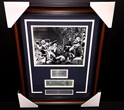 74febdc78a4 Image Unavailable. Image not available for. Color  Johnny Unitas Autographed  ...