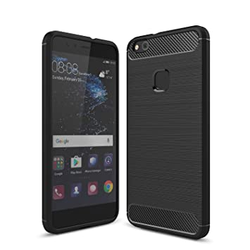 new product bfdd3 135c2 Huawei P10 Lite case, KuGi ® Huawei P10 Lite case - High quality frosted  style Soft TPU Case for Huawei P10 Lite smartphone.(Black)
