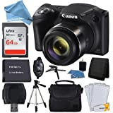 "Canon PowerShot SX420 20 MP Digital Camera (Black) + 64GB SDHC Memory Card + Deluxe Carrying Case + Extra Battery + 50"" Quality Tripod + Hand Grip + Cleaning Kit + DigitalAndMore PLUS Accessories"