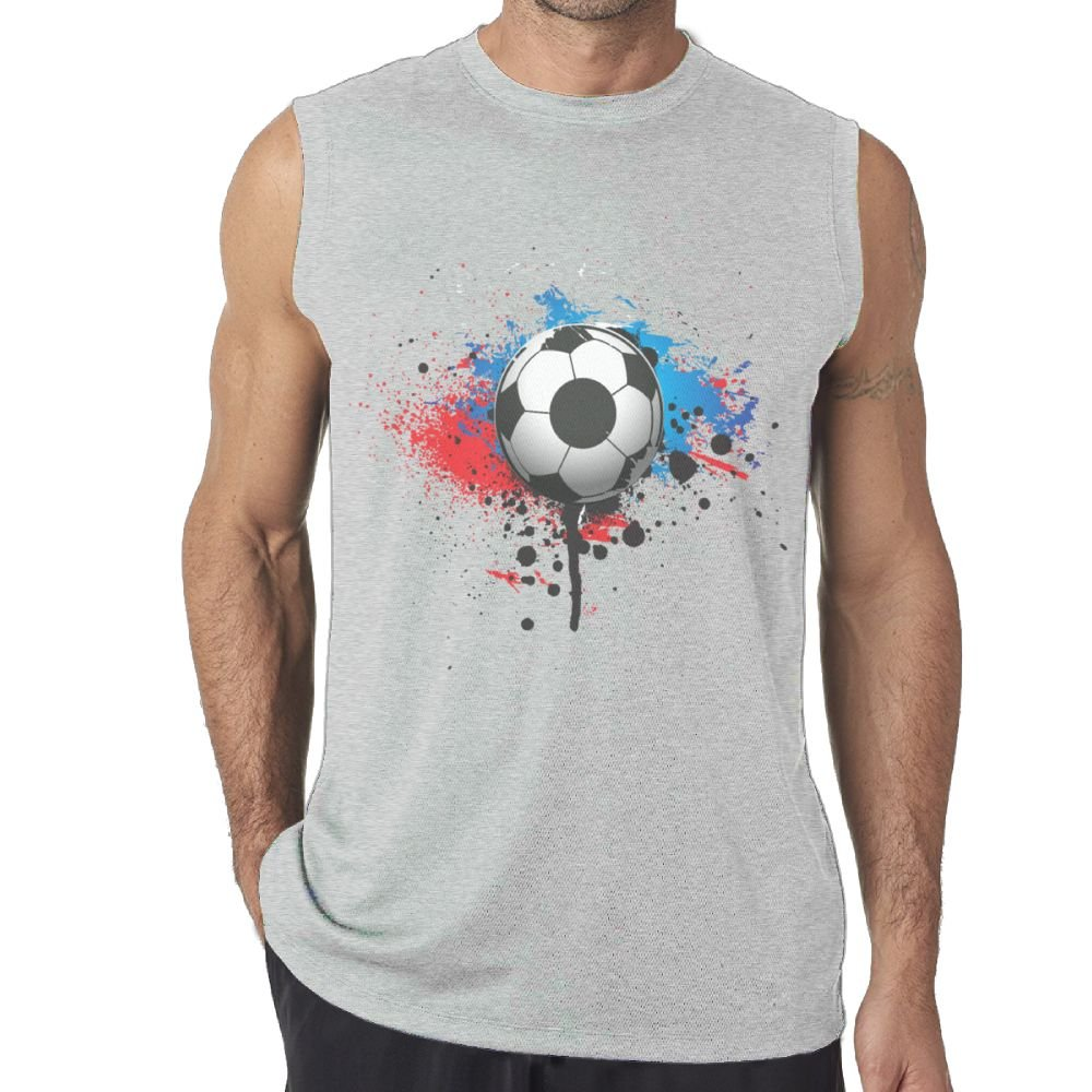 Oopp Jfhg Tanks Top Sleeveless Shirts Fit Men Soccer Color Image Cotton