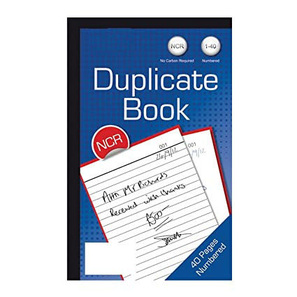 Número de duplicado portátil 40 páginas a rayas Memo Pad factura ...