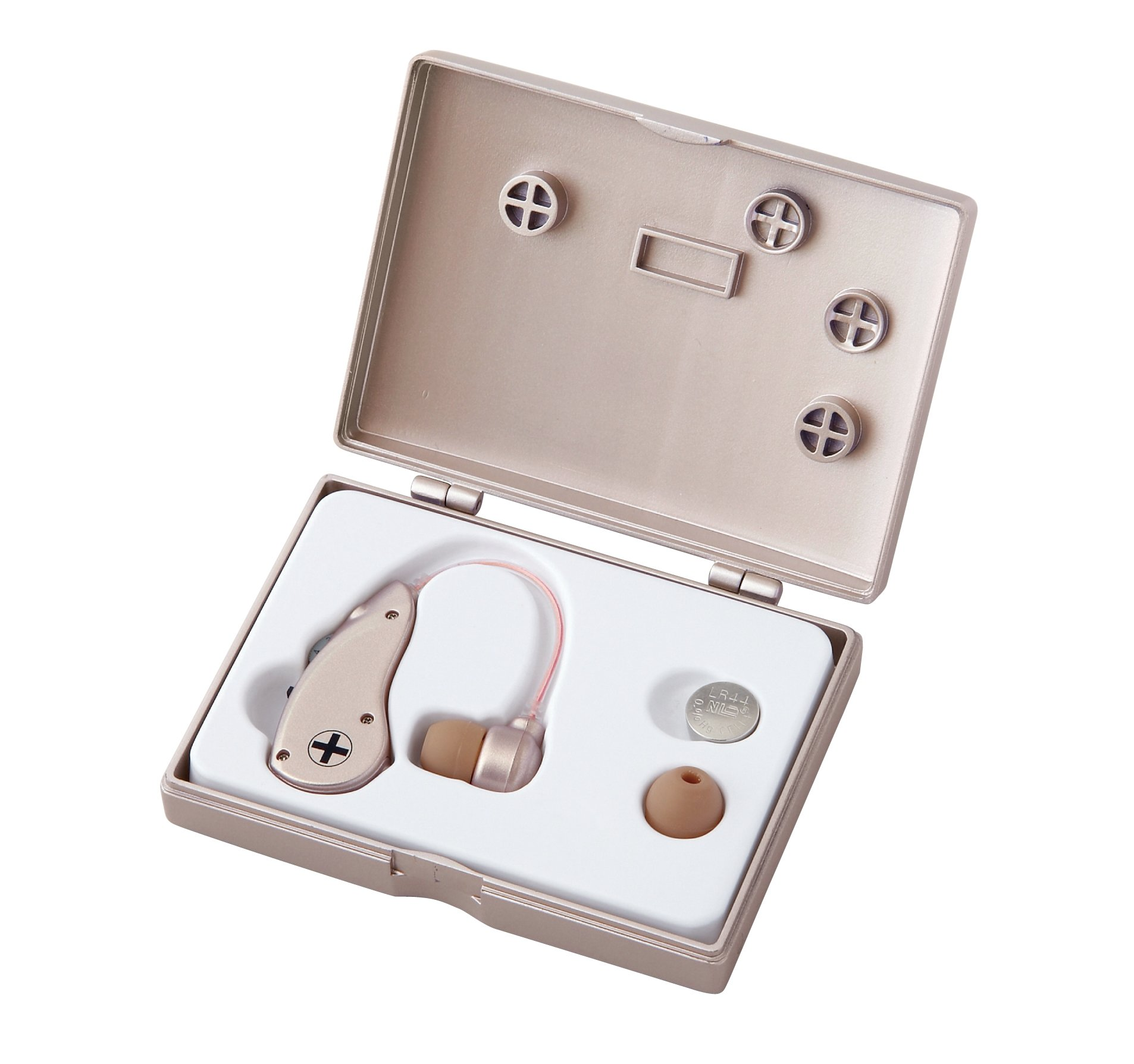 Clear Sound Personal Sound Amplifier. Affordable with best quality. Behind The Ear. Easy To Use. Fit Both Ears, Energy-Saving Technology, with 2 ear buds (Large and Small) to fit most customers. New flexible tube best fit over ear. Ear buds made from spec