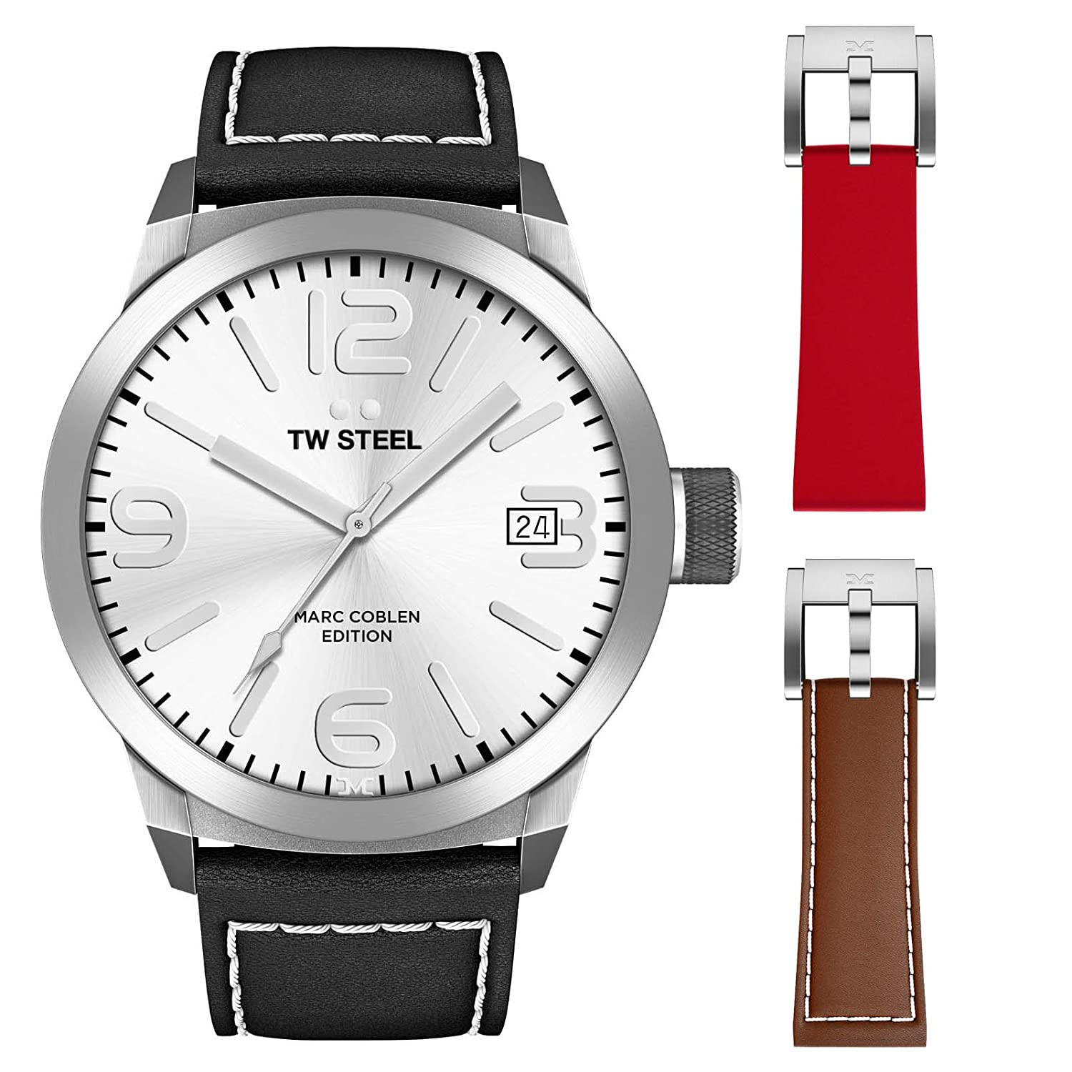 TW Steel Marc Coblen Edition 50 MM Set mit 2 ArmbÄndern TWMC47 - SET98