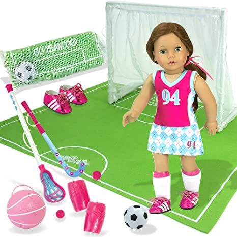 2f1466e9811 Amazon.com  Ultimate Sports Set for 18 Inch Dolls