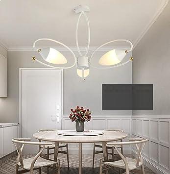 AMZH Nordischen Stil Wohnzimmer Kronleuchter Eisen Spinne Deckenleuchte Moderne  Kreative LED Schlafzimmer Deckenleuchte Esszimmer Kronleuchter