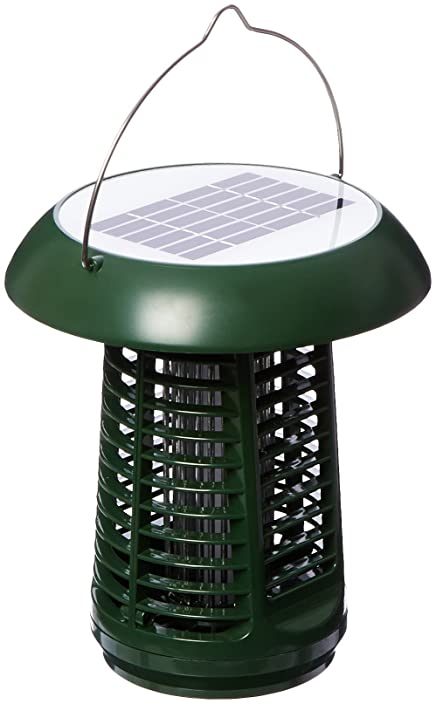 NK63 Solar-Powered UV Bug Zapper, Insect Killer & LED Garden Lamp