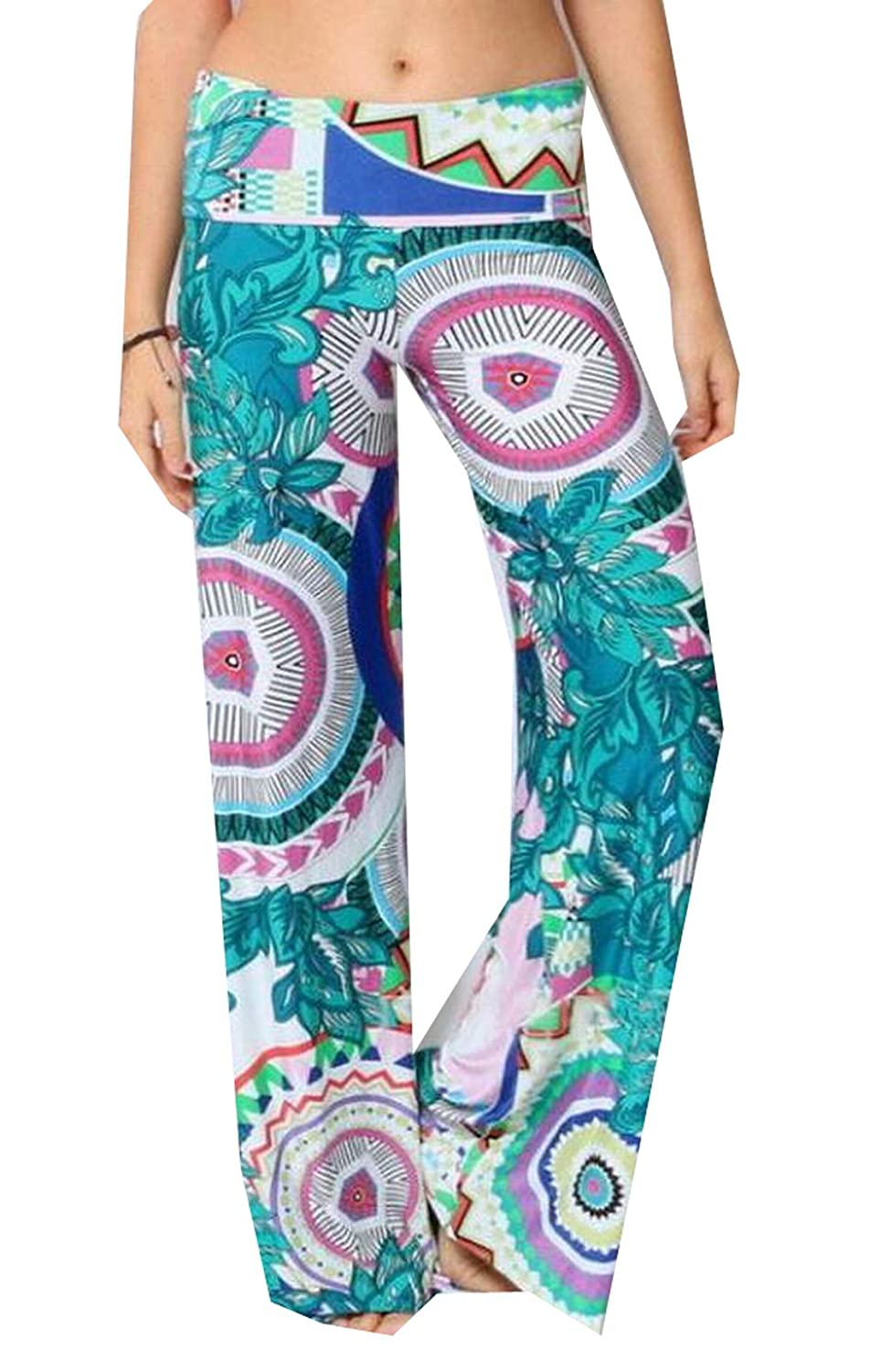 ASL Women Comfy Chic Straight Multicolored PALAZZO PANTS