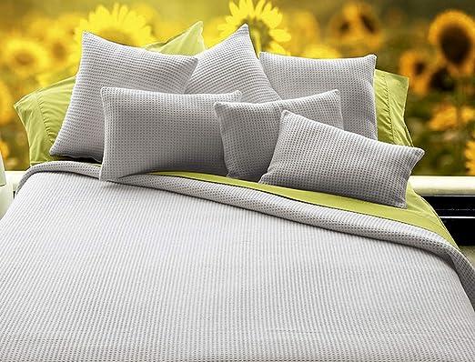 Manta 100% algodón Malta Cama de 135 Color Gris: Amazon.es: Hogar