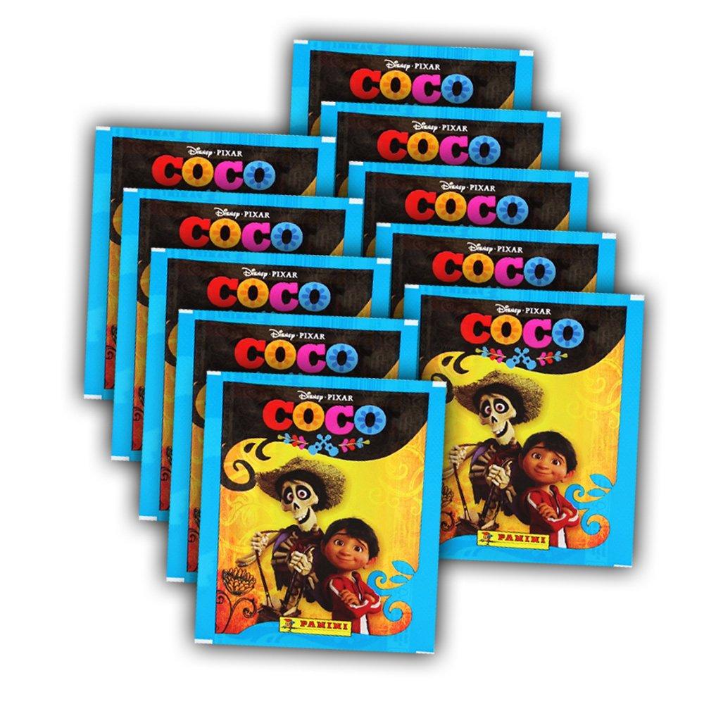 Panini –  Coco Sticker –  10 Booster (50 cromos)