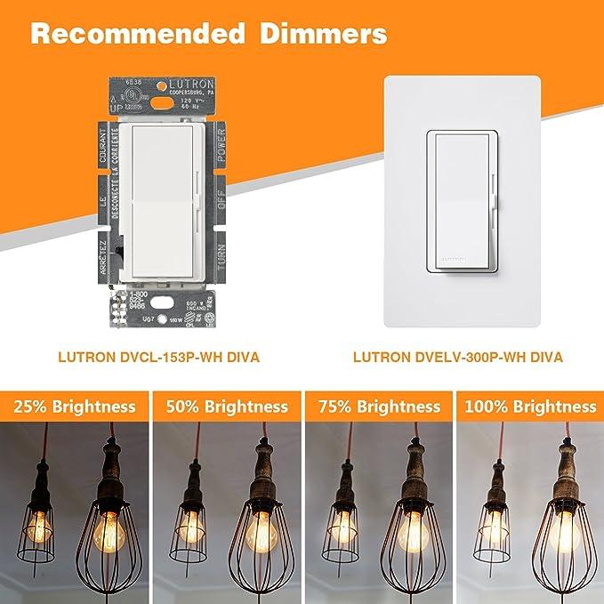 Amazon.com: gezee 10 W estilo Edison Vintage LED foco de ...