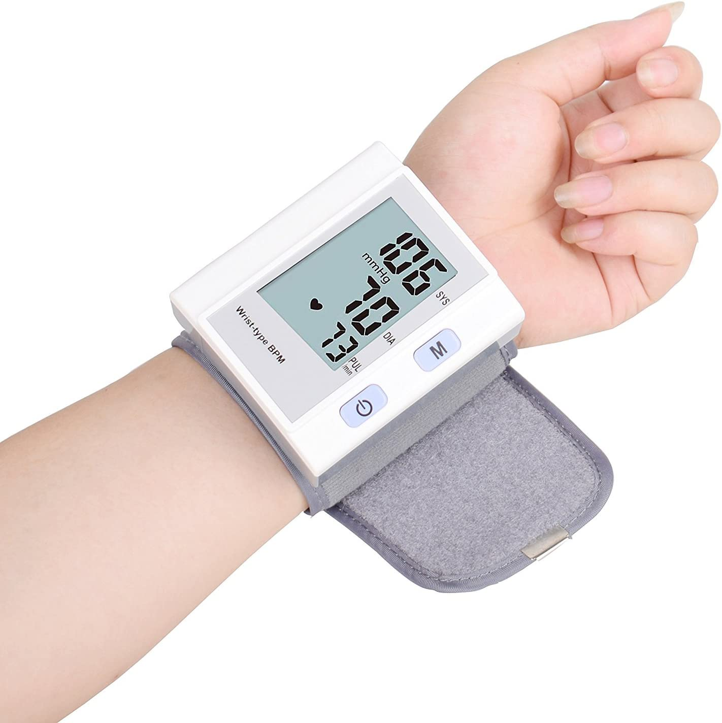 BP Cuff Wrist Automatic Blood Pressure Machine with LED Screen Display Health Monitors, FDA Approved One Touch Operation Blood Pressure Cuff Device