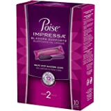 Poise Impressa Bladder Supports, Size 2, 10 Tampons (Pack of 2)