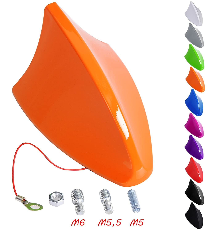 WOLTU AT7028pk Antenna Auto Universale a Pinna di Squalo Shark Adattatore Veicoli Radio AM//FM Rosa
