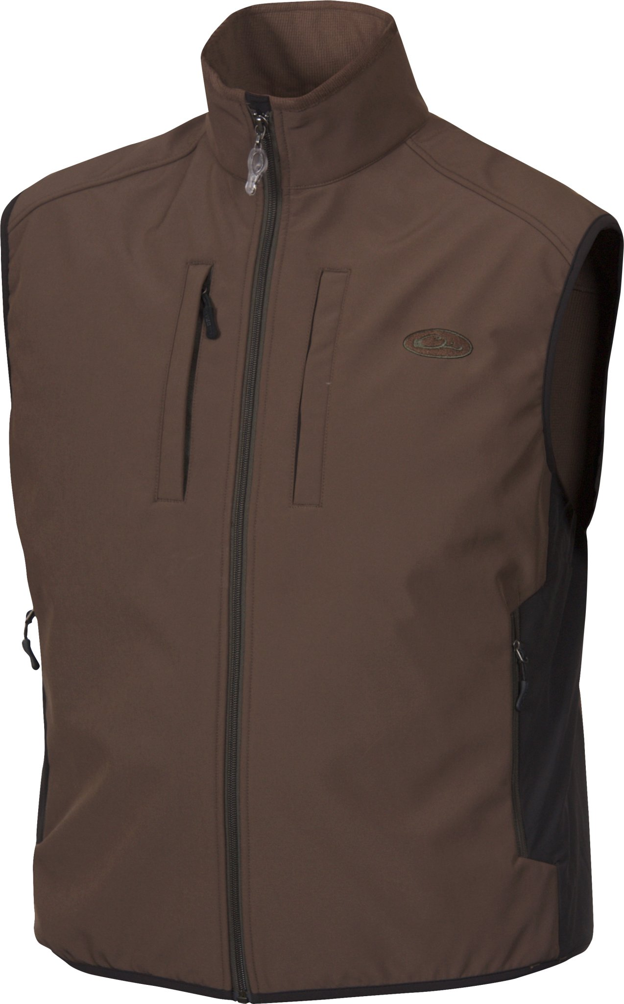 Drake Windproof Tech Brown Vest, Small