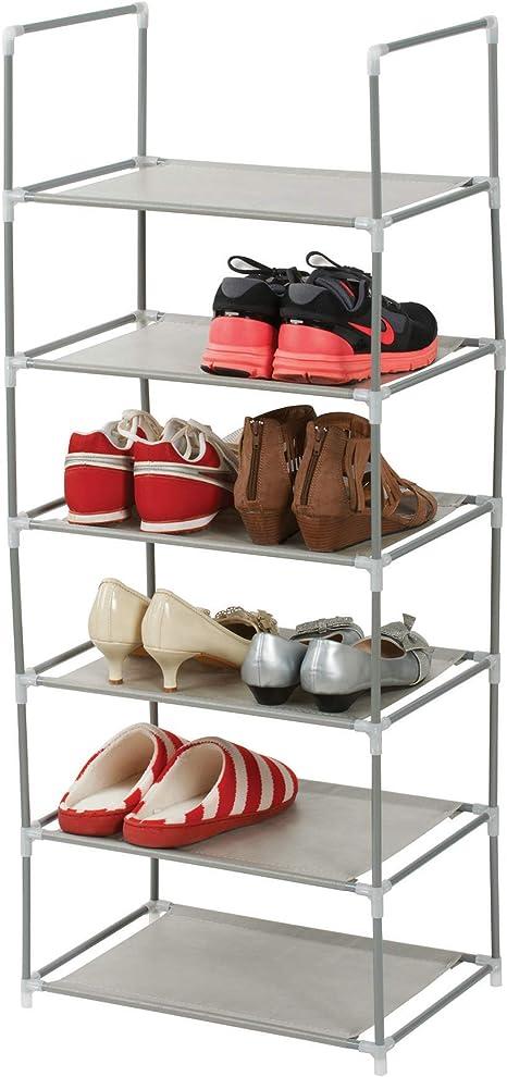 AllRignt 10 Ebenen Schuhregal Schuhschrank Schuhst/änder Edelstahl Schuhablage mit Griffen 175x100x29 cm