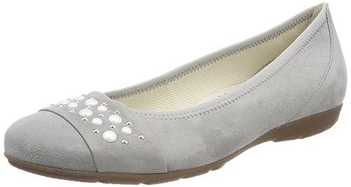6fa27c5fd8 Gabor Women's Casual Ballet Flats, Grey (Stone), 2.5 UK (35 EU