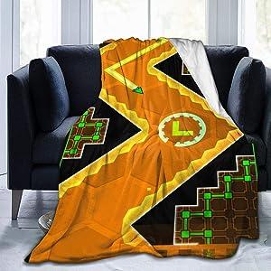 "NOT Geometry Dash 2 Digital Printed Ultra-Soft Micro Fleece Blanket Soft Warm 50""x40"""
