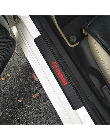 verschlei/ßplatte Aufkleber Auto Styling schwelle Abdeckung schutzleiste Auto Kick Platten Pedal HJHNB 4 st/ücke autot/ür einstiegsleisten zubeh/ör f/ür Mazda cx-30 cx30 2019 2020 Edelstahl
