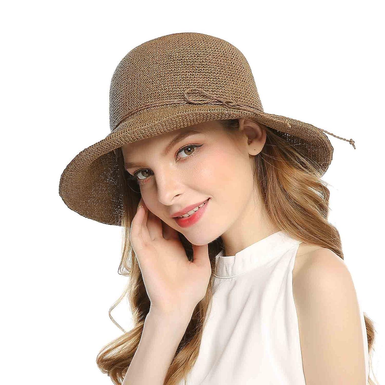Floppy Foldable Summer Beach Sun Hats Wide Brim Chic Straw Cap for Women Welrog