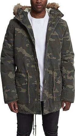 Urban Classics Men Winterjacket TB1811 Garment Washed Camo Parka Color   Wood camo in Size  1f1a317c452
