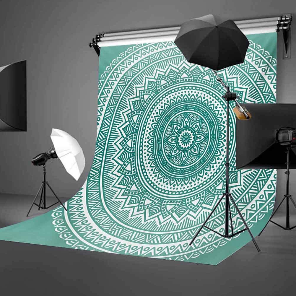 Retro 8x10 FT Backdrop Photographers,Funky Square Shaped Lava Flowers with Abstract Inner Forms Print Background for Photography Kids Adult Photo Booth Video Shoot Vinyl Studio Props
