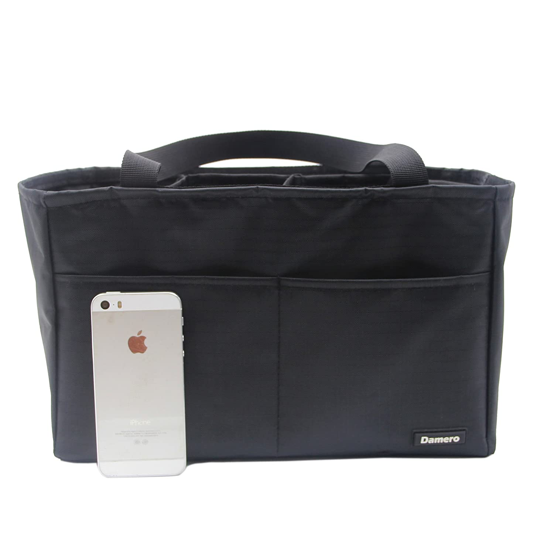 Schwarz Damero Tasche in der Tasche Insert Organiser Handtasche Wasserdichte Tasche f/ür Frauen Pflegetasche//Geldbeutel//Windelbeutel//Rucksack mit Griff