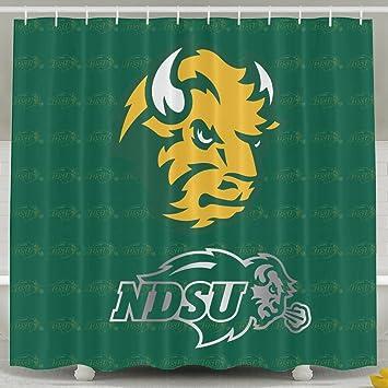 iwkulad ndsu bison platinum logo customized shower curtains