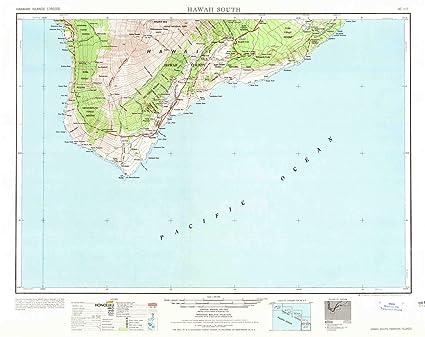 Amazon.com : YellowMaps Hawaii South HI topo map, 1:250000 Scale, 1 ...