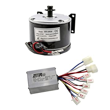 Amazon com: WPHMOTO 250W 24V DC Brushed Electric Motor with